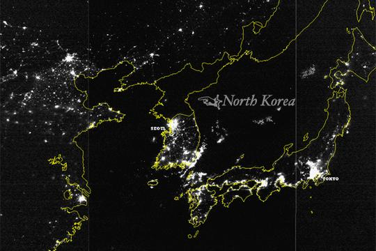 The Difference Between North And South Korea At Night Is Astounding